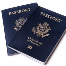 Two United States of America passport booklets